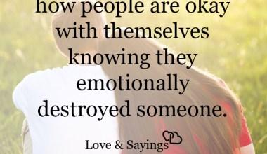 Emotionally destroyed someone