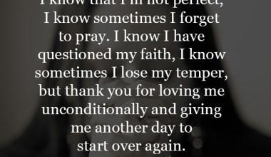 I know sometimes I lose my temper