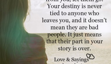 It just means that their part in your story is over