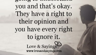 They have a right to their opinion and you have every right to ignore it