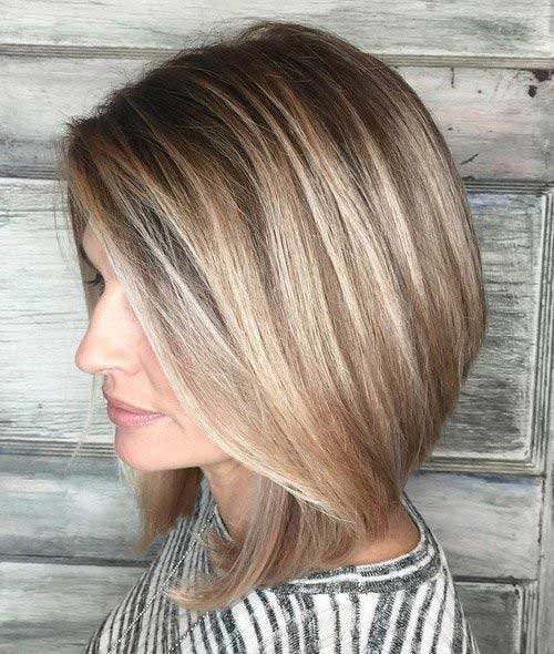 Blended ombre bob hairstyle