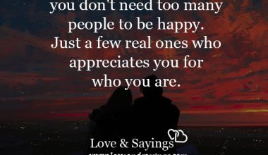 You don't need too many people to be happy