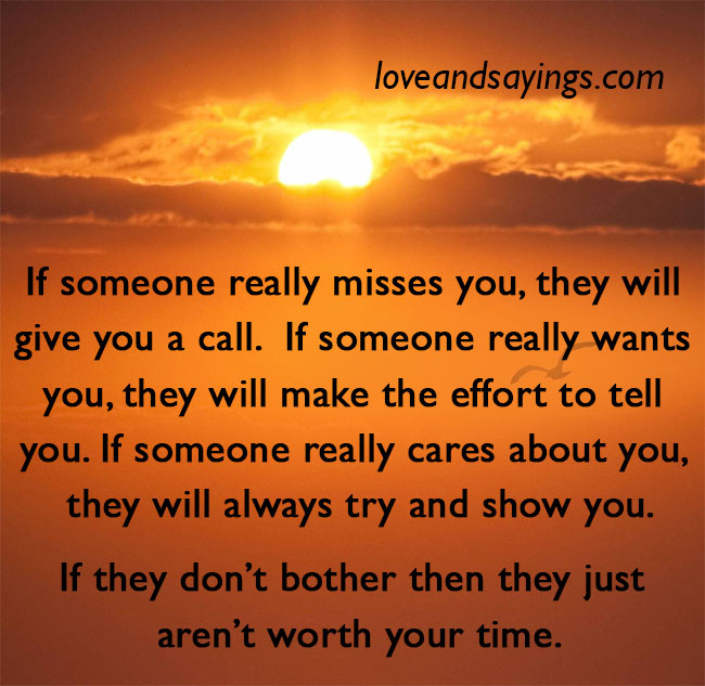 If someone really wants you
