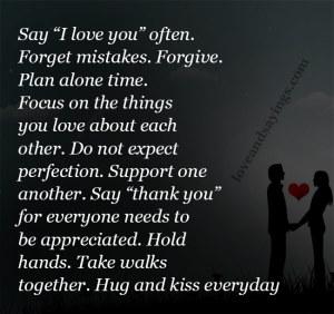 """Say """"I love you"""" often"""
