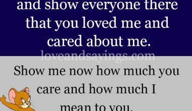 Show me how much you care and Love