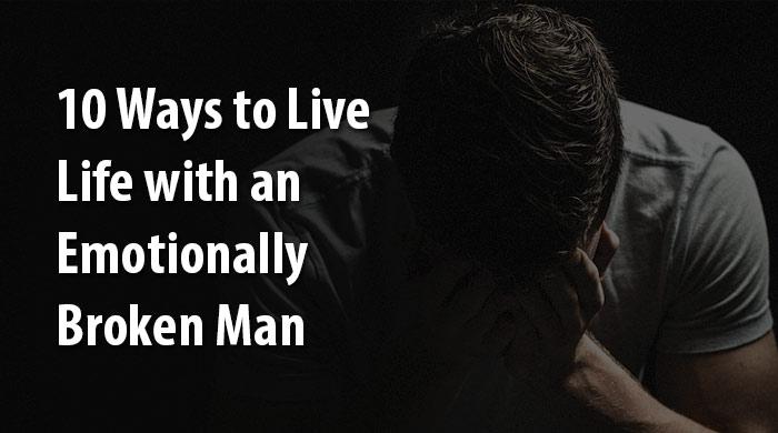 emotionally broken man