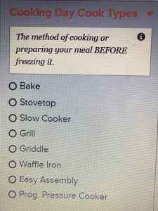 freezer cooking prep list