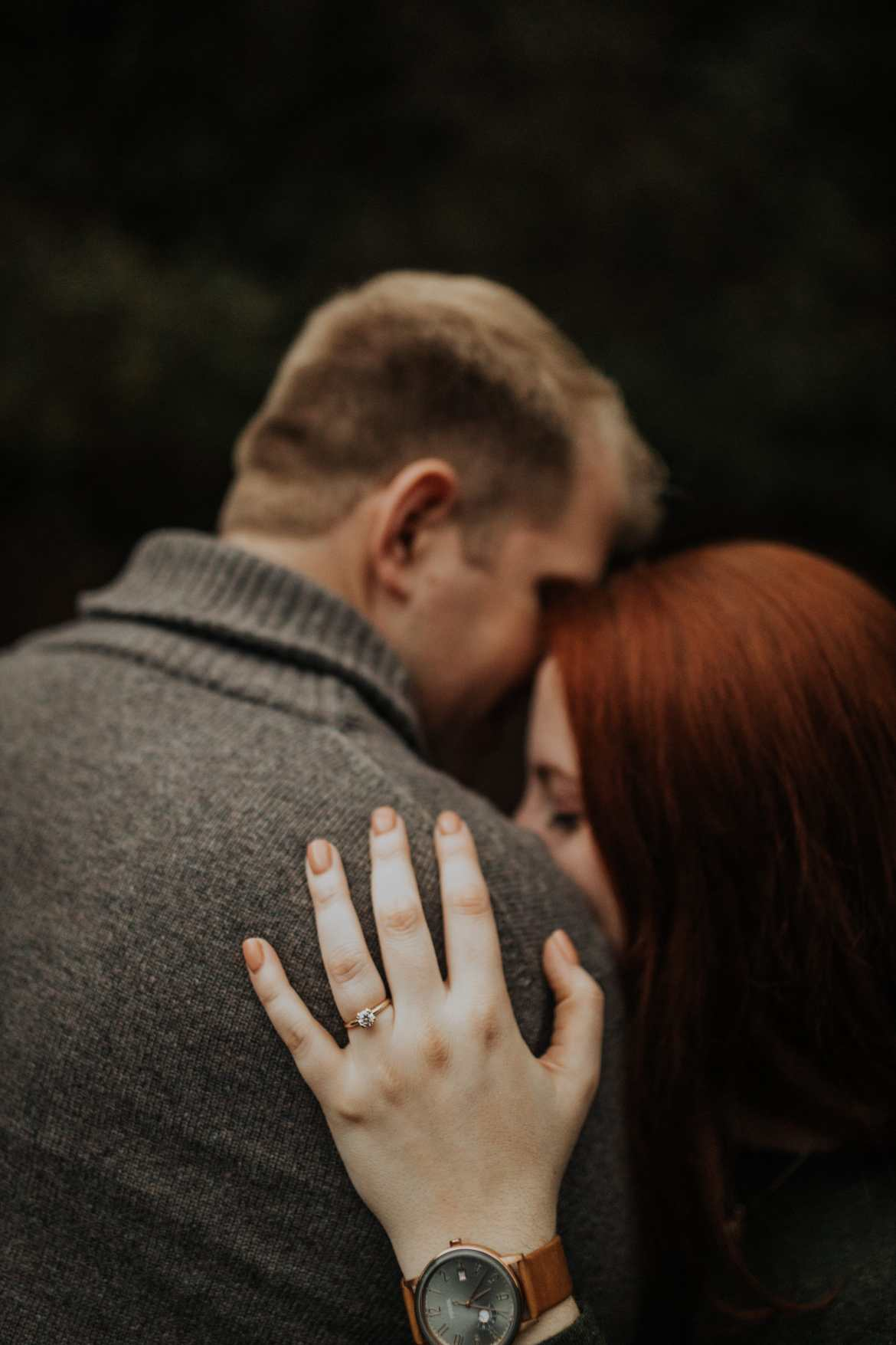 Atlanta Wedding Photographer Roswell Engagement Session Ring Focus Pose