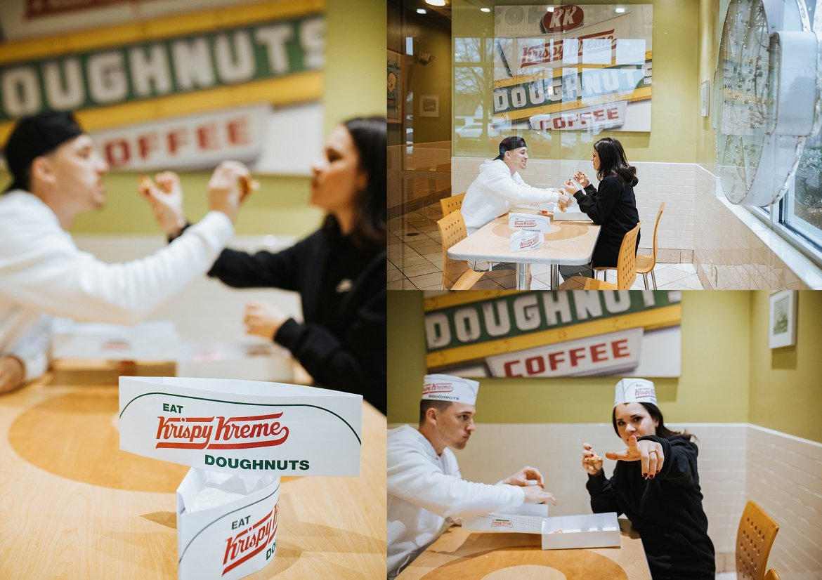 Atlanta Wedding photogrphers Krispy Kreme Engagement Session