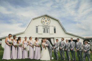 Atlanta Wedding Photographers Large Wedding Party Barn