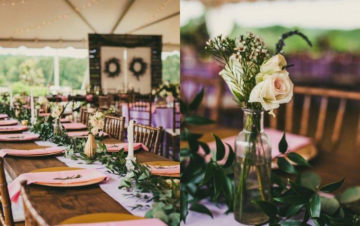 Atlanta Wedding Photographers Pink and Lilac Reception Details
