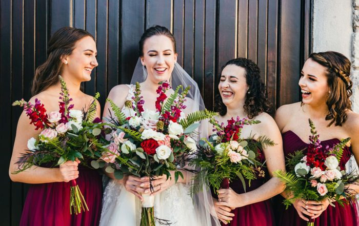 Wedding at Ashton Gardens, Bridesmaids laughing, atlanta wedding photographers, Love & Story