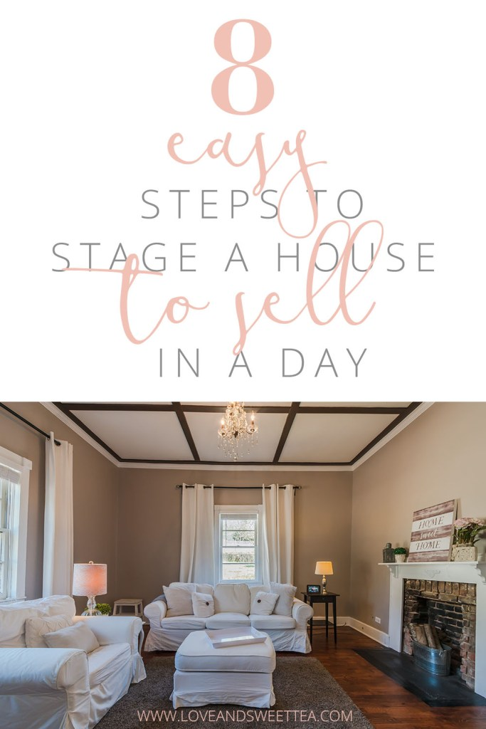 8 steps to stage a house in a day