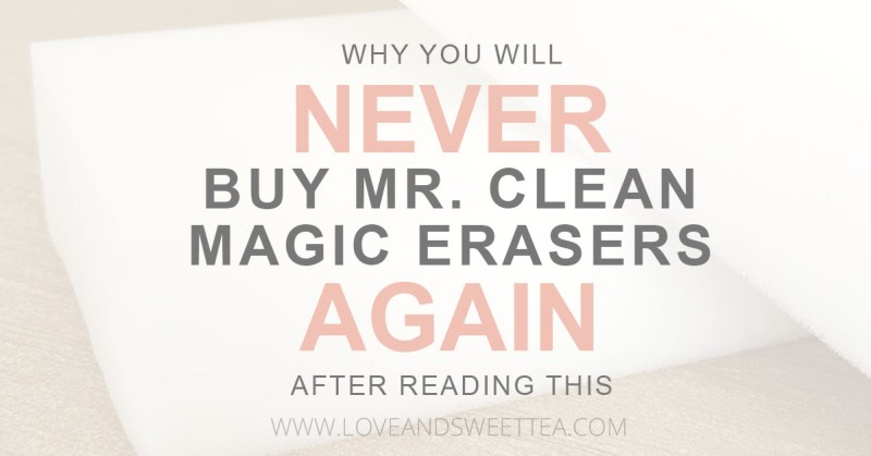 You love Mr. Clean Magic Erasers. They're amazing for cleaning everything around the house. You never know what a Magic Eraser can clean next, amiright? Plus, they're chemical free, which means they're safe even for a home full of kids and pets. And here is why you will never buy Magic Erasers again.