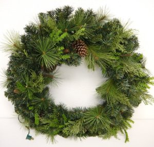 Outdoor Pine Wreath