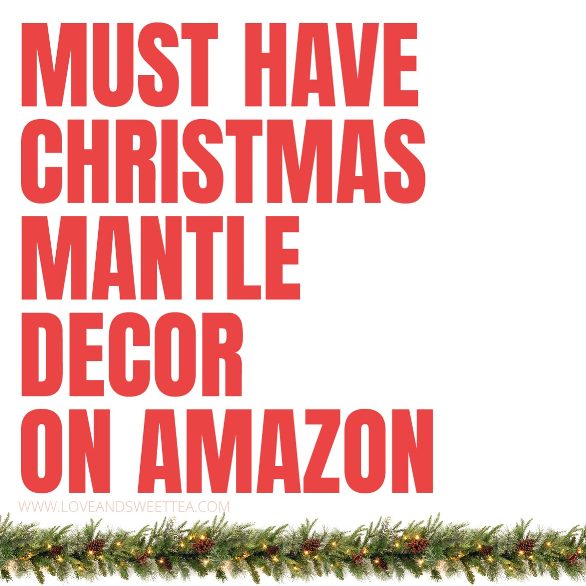Christmas Mantle Decor on Amazon