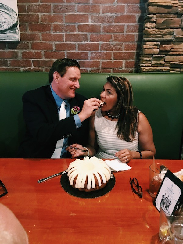 Wedding Cake Groom Feeding Bride