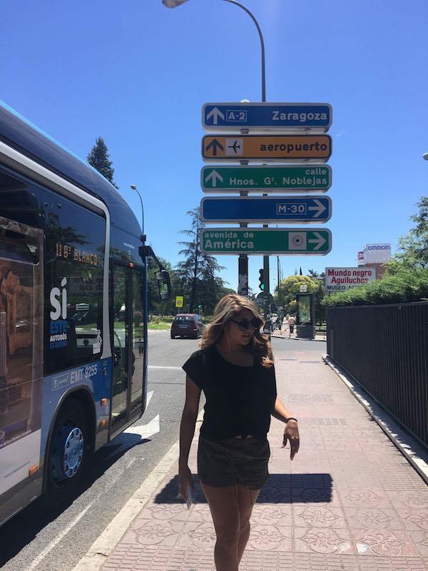 Bus Stop Madrid