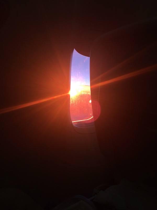 Sunrise In The Plane