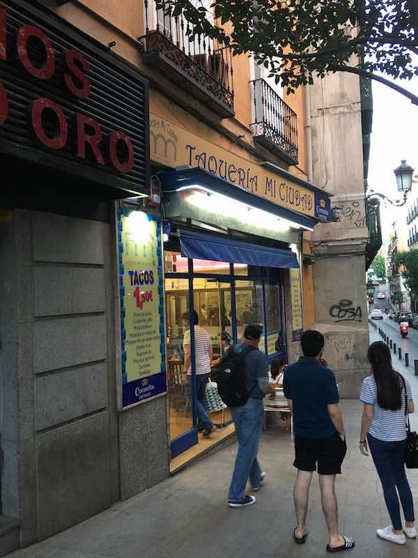 Walking Up To Taqueria Mi Ciudad
