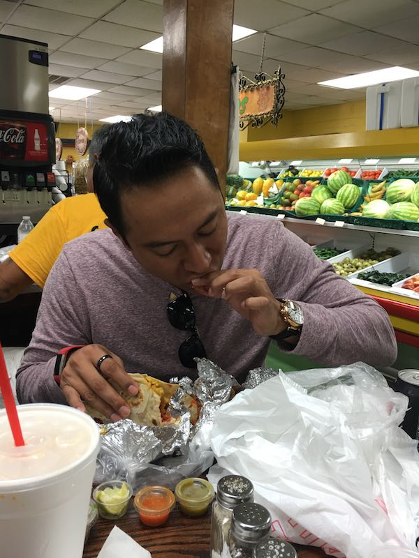 Juan Manuel Eating Tacos