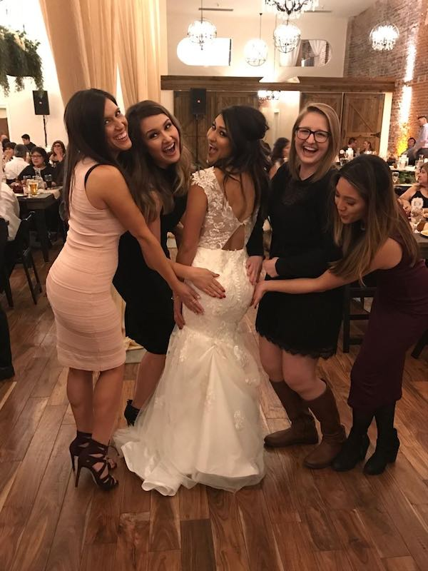 Wedding Day Fun With Friends