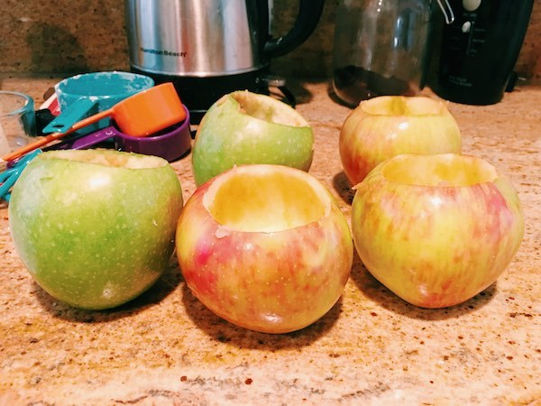 Baked Apple Recipe Prep