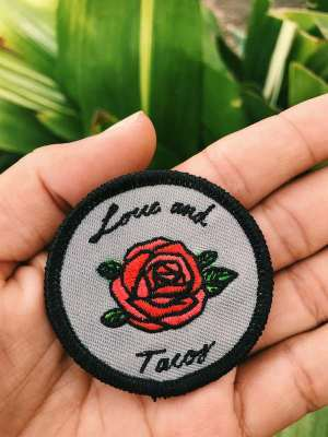Love And Tacos Como La Flor Patch Size Reference