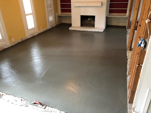 Smooth Cement In Living Room