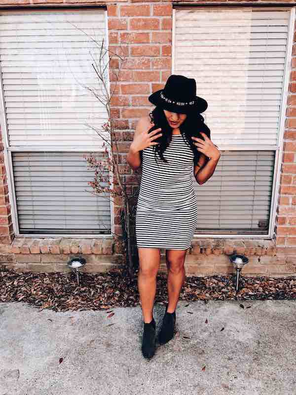 Bodycon Dress With hat