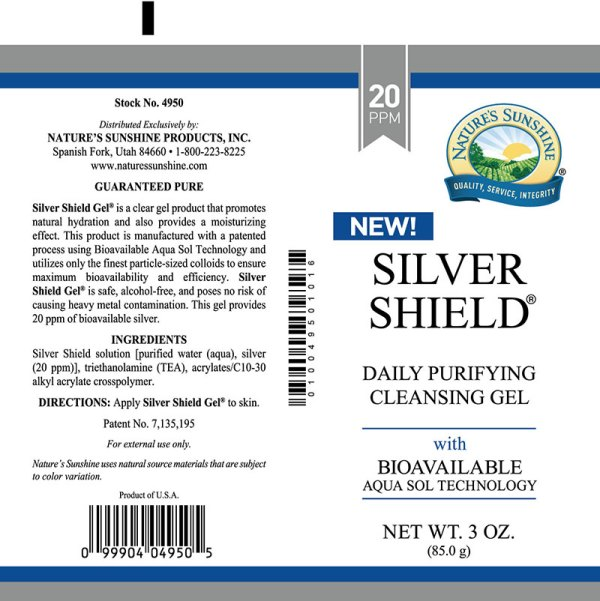 silver shiled gel label
