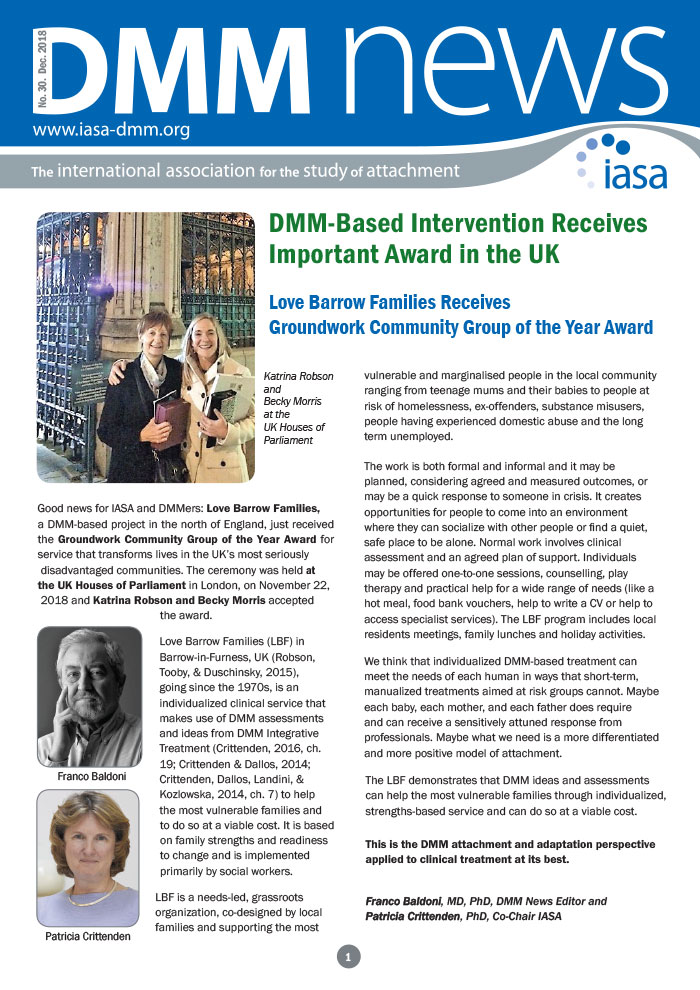 DMM Newsletter:  IASA celebrates our Groundwork award