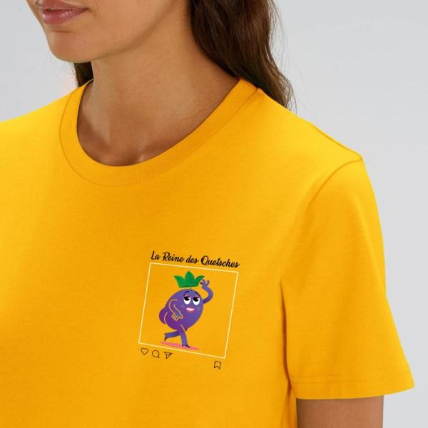 v20 Reine des quetsches – t-shirt unisexe – detail
