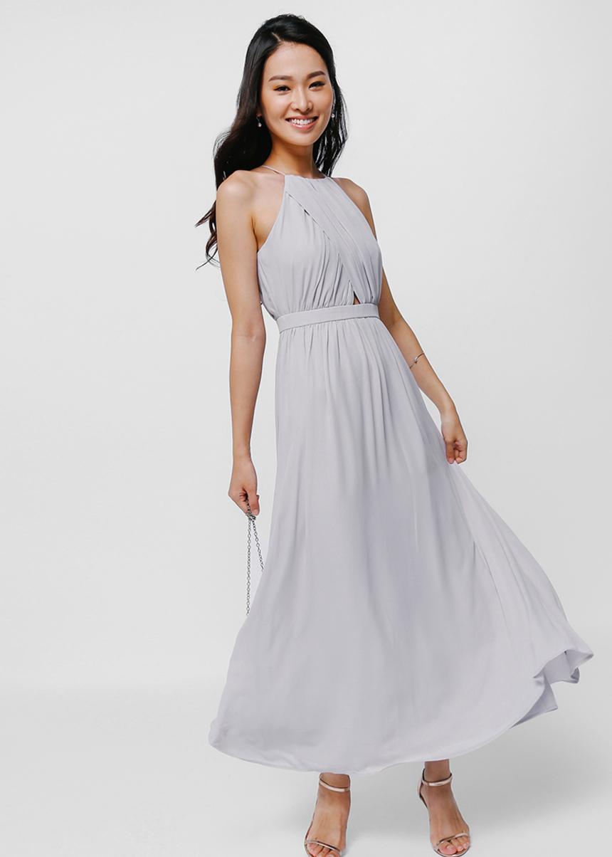 Emelda Cross Front Maxi Dress
