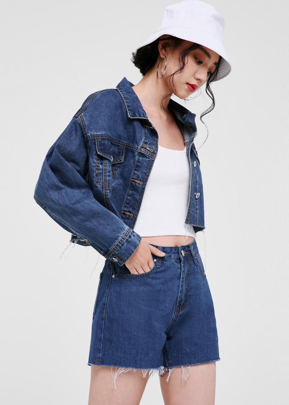 Stefani Cropped Denim Jacket