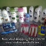 Rite Aid Shopping Trip 7/31/12 = 90% Savings!