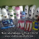 Rite Aid Shopping Trip 7/31/12 = 90% Savings!