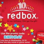 FREE Redbox Movie Rental – Today 10/10 only!