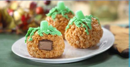 rice Krispies Pumpkins
