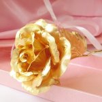 Handcrafted 24K Gold Rose only $37.99 shipped! Make a great Valentine's Day Gift ❤