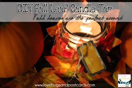 DIY Fall Leaf Candle Jar