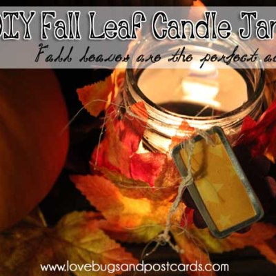 DIY: Fall Leaf Candle Jars