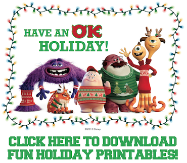 Free Monsters University Printables
