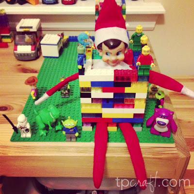 Elf on the Shelf Ideas – Lego Prisoner (Toy Story 3)