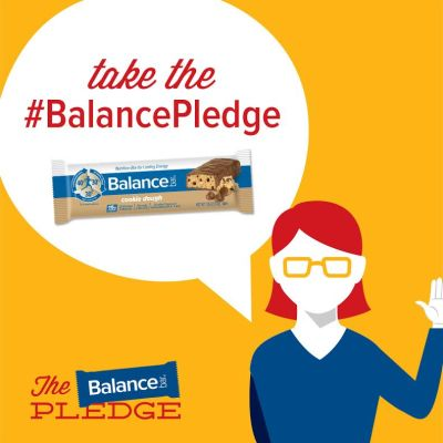 Take the #BalancePledge and enter to win a Balance Bar Prize Pack (with bars, YurBuds, and calendar)