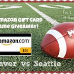 GAME DAY GIVEAWAY: Enter to win a $50 Amazon Gift Card! (2/2 only)