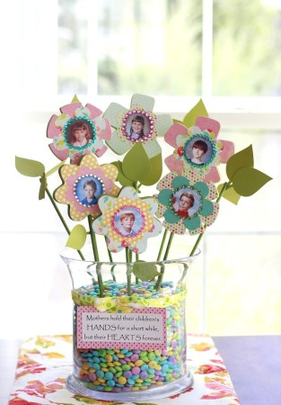 Mothers Day Poem Flower Bouquet Craft