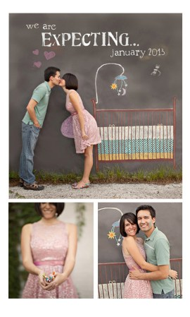 Way to announce pregnancy - Chalk Drawing