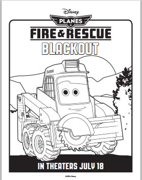 Fire: Planes and Rescue Coloring Pages - Blackout
