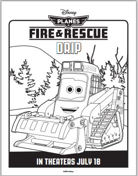 Fire: Planes and Rescue Coloring Pages - Drip